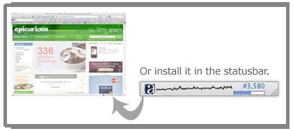 安装alexa工具条后浏览器右下角可以直观显示当前浏览网站的全球排名